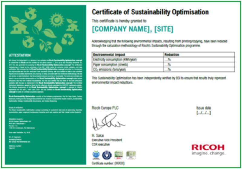 Certificato di Riduzione Impatto Ambientale