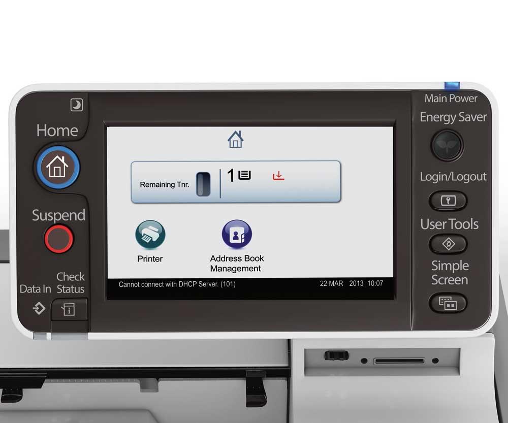 Stampante Ricoh SP 4520DN panel